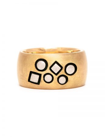 Stonemason Ring - Gold & Silver