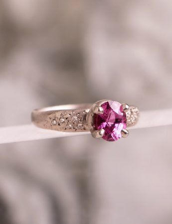 Bewitch Ring - Pink Saphire