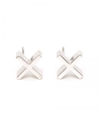 Plus Plus Earrings - Silver