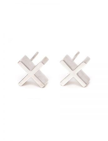 Plus Plus Earrings – Silver