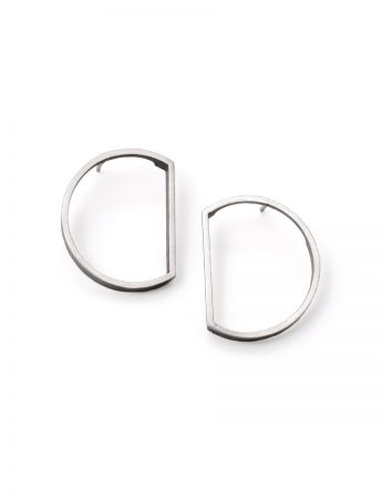 Bi-Sected Circle Outline Earrings