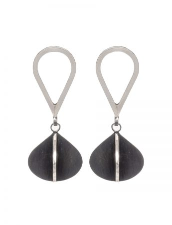 Black Double Pod X Series Dangle Earrings
