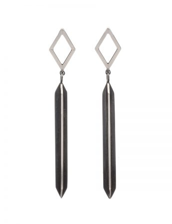Black Rhombus X Series Dangle Earrings