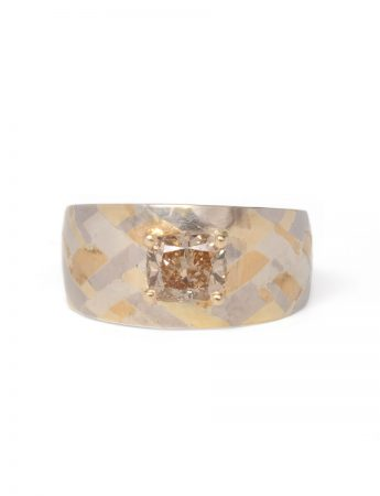 Budding Terrain Ring - Champagne Diamond