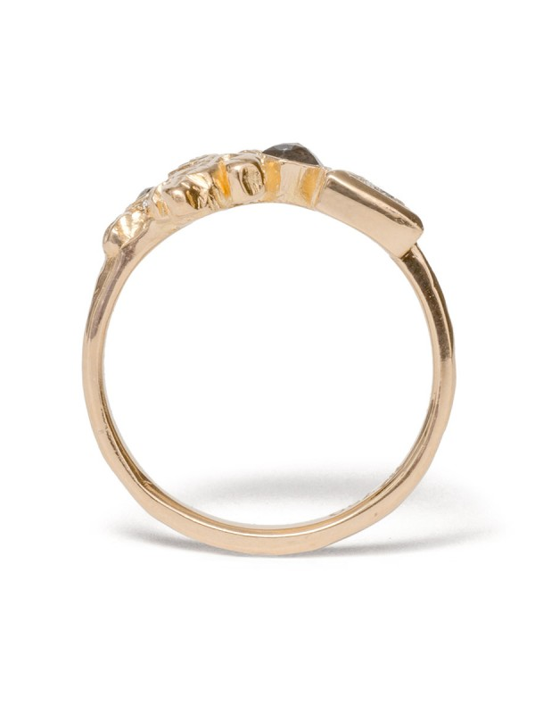 Crystal Cluster Ring – Yellow Gold & Diamonds