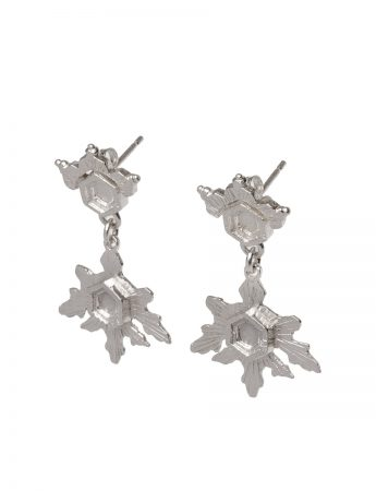 Crystal Growth Earrings - Silver