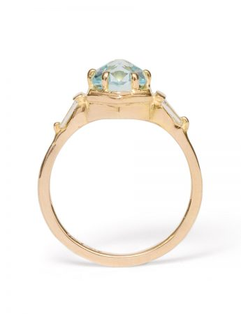 Crystalline Frequency Ring – Blue Topaz & Diamonds