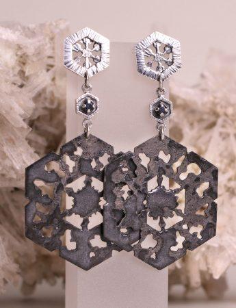 Dark Waters Black Sapphire Earrings