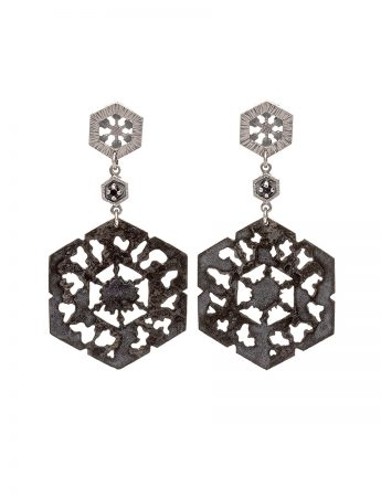 Dark Waters Black Diamond Earrings