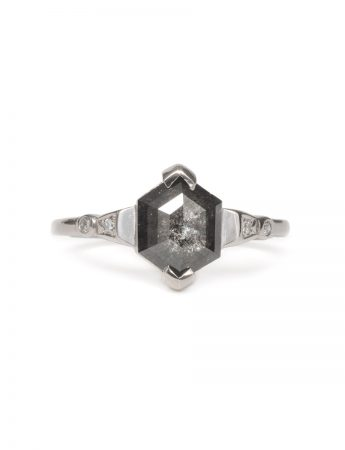 Deep Waters Ring - Salt & Pepper Diamond