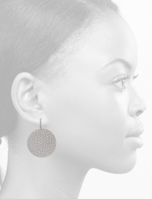 Extra Large Disk Earrings – Silver