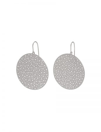 Extra Large Disk Earrings - Silver
