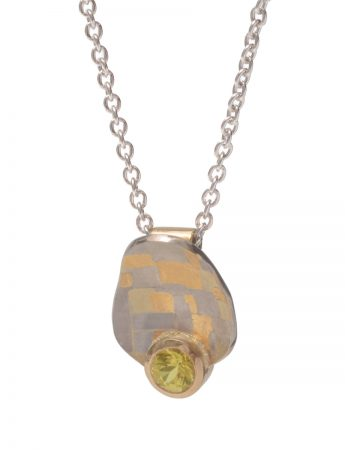 Guided Terrain Pendant Necklace - Yellow Sapphire