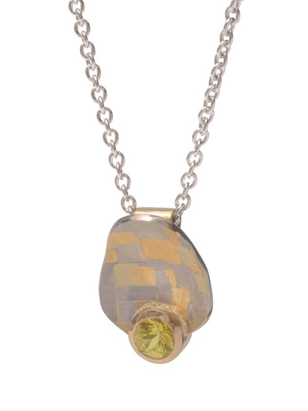 Guided Terrain Pendant Necklace – Yellow Sapphire