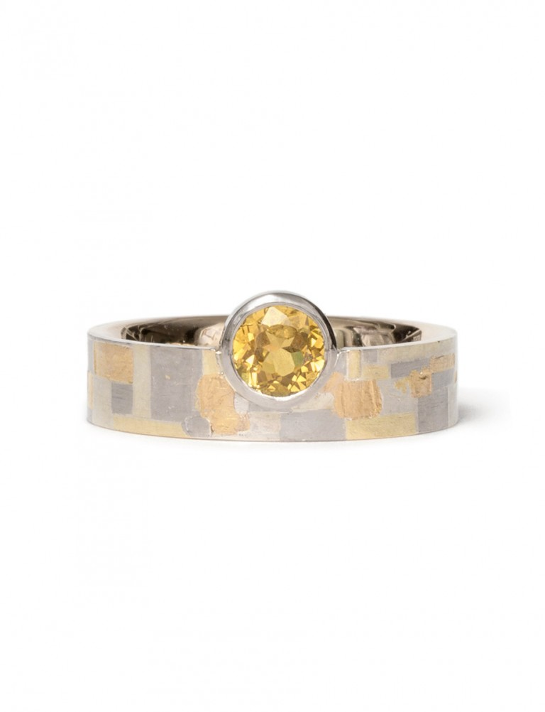 Guided Terrain Ring – Yellow Sapphire