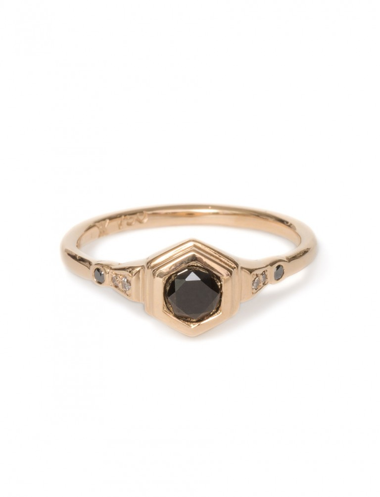 Hidden Depths Ring – Black Diamond