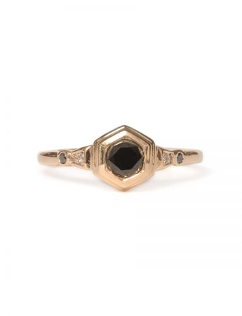 Hidden Depths Ring - Black Diamond