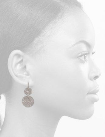 Large Double Disk Earrings – Silver
