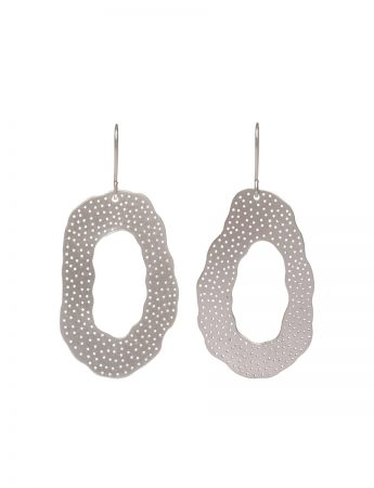 Large 'O' Earrings - Silver