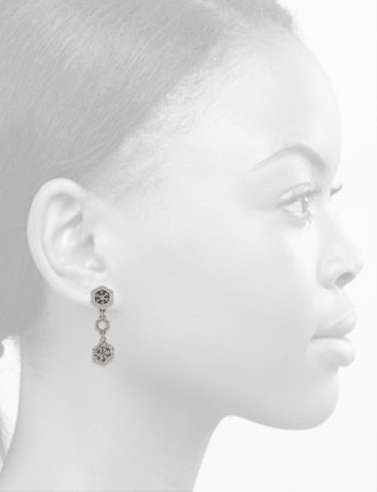 Silver Crystal Drop Earrings – Medium