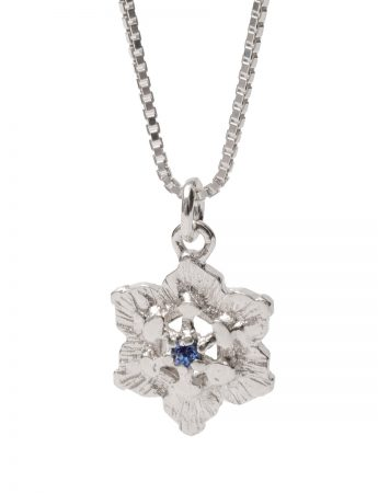 Molten Crystal Necklace - Blue Sapphire