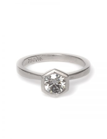 Natural Geometry Ring - White Diamond
