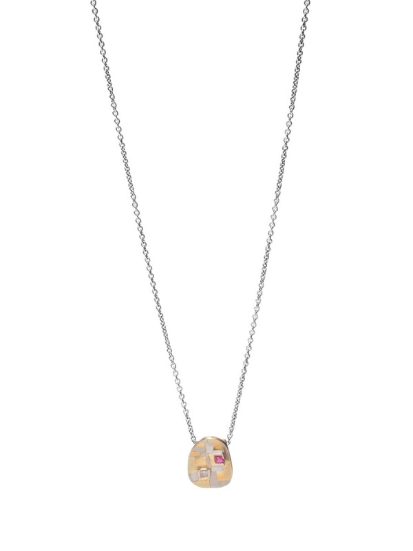 Remembered Terrain Pendant Necklace – Ruby & Diamond