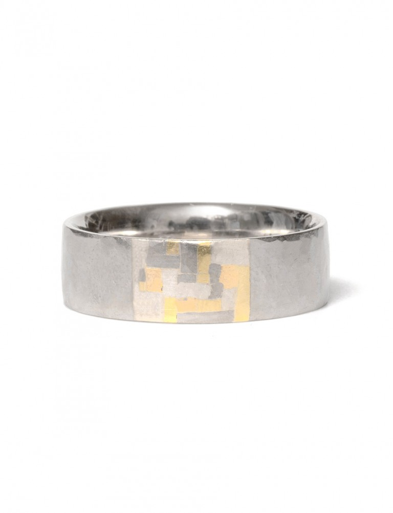 Sampled Terrain Ring – White Gold