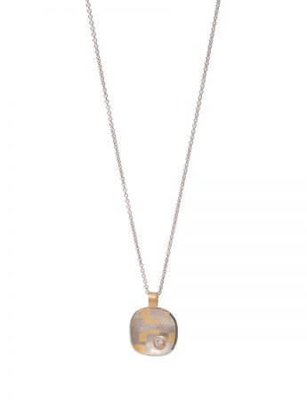 Shared Terrain Cushion Shaped Pendant Necklace - Diamond