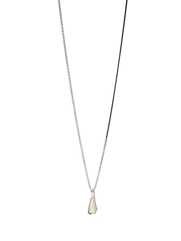 Small Beach Glass Necklace – Pale Sage Green