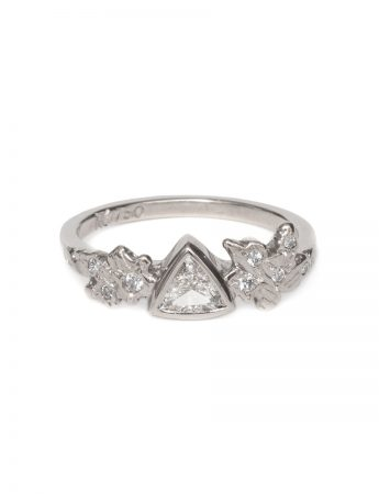 Snow Crystal Ring – White Diamonds