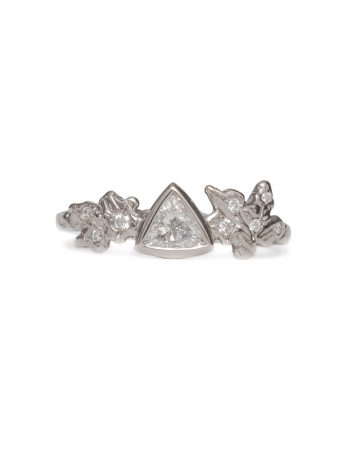 Snow Crystal Ring - White Diamonds