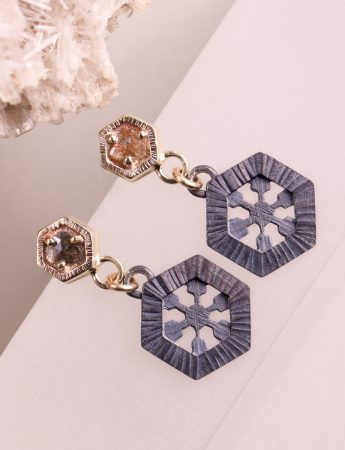 Summer Ice Diamond Slice Earrings
