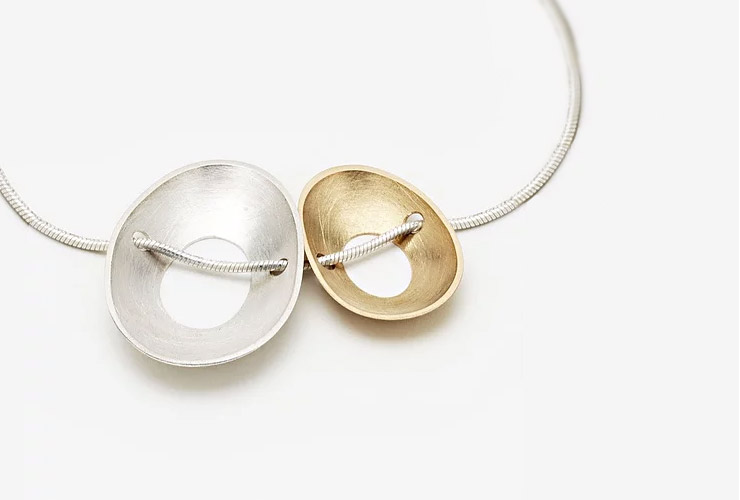 Side by Side Periwinkle Necklace by Katheryn Leopoldseder