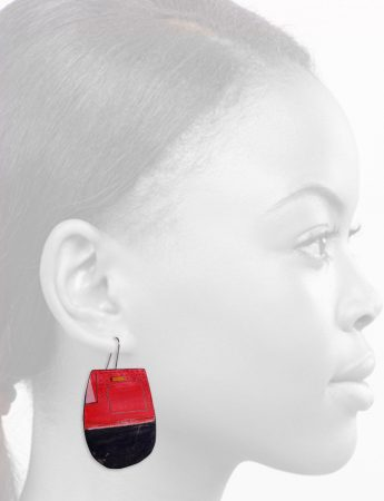 Reversible Apron Earrings – Red & White