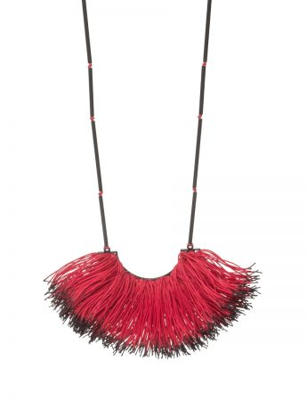 Eucalypt Stamen Necklace - Red & Black