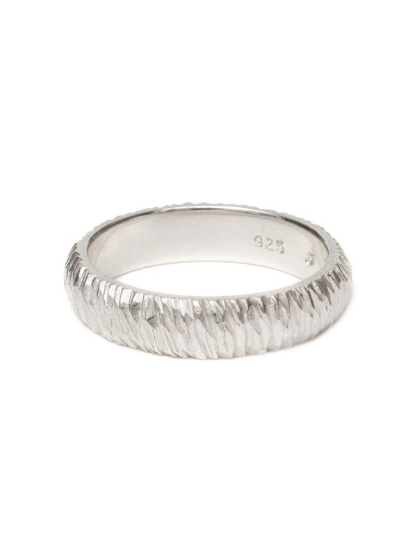 Extra Wide Mini Facet Ring – Silver