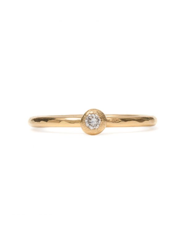 Frosted Orb Ring – White Diamond
