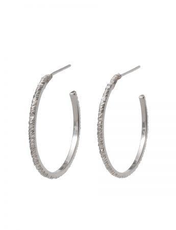 Mini Facet Earrings - Silver