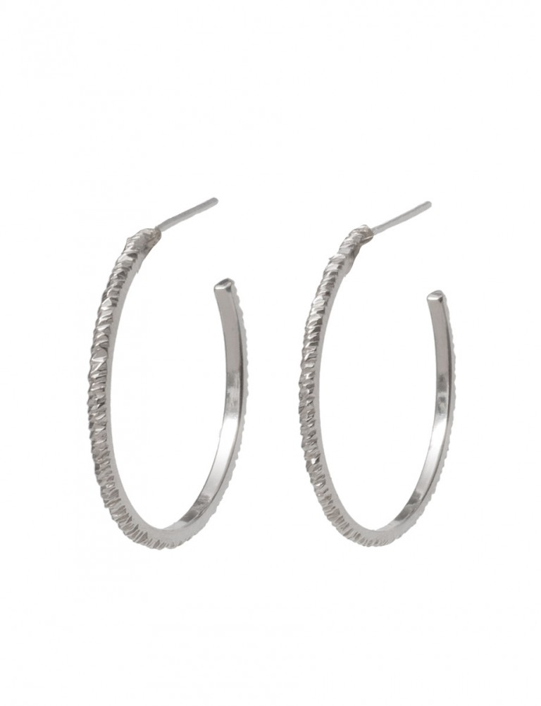 Mini Facet Earrings – Silver