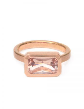 Radiant Blush Ring – Morganite & Rose Gold