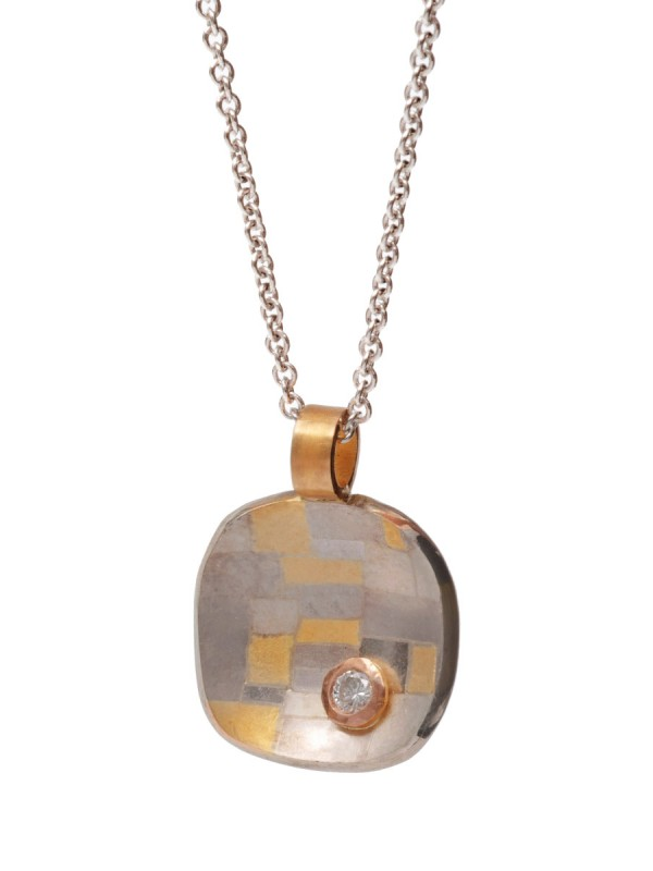 Shared Terrain Cushion Shaped Pendant Necklace – Diamond