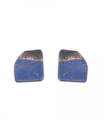 Apron Earrings - Dark Blue