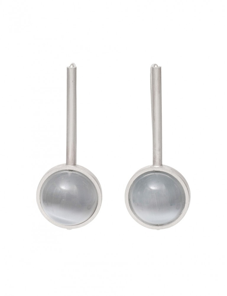 Chromatic Sphere Earrings – Grey