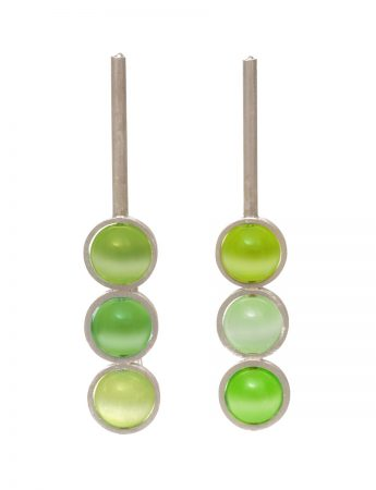 Chromatic Sphere Earrings - Green