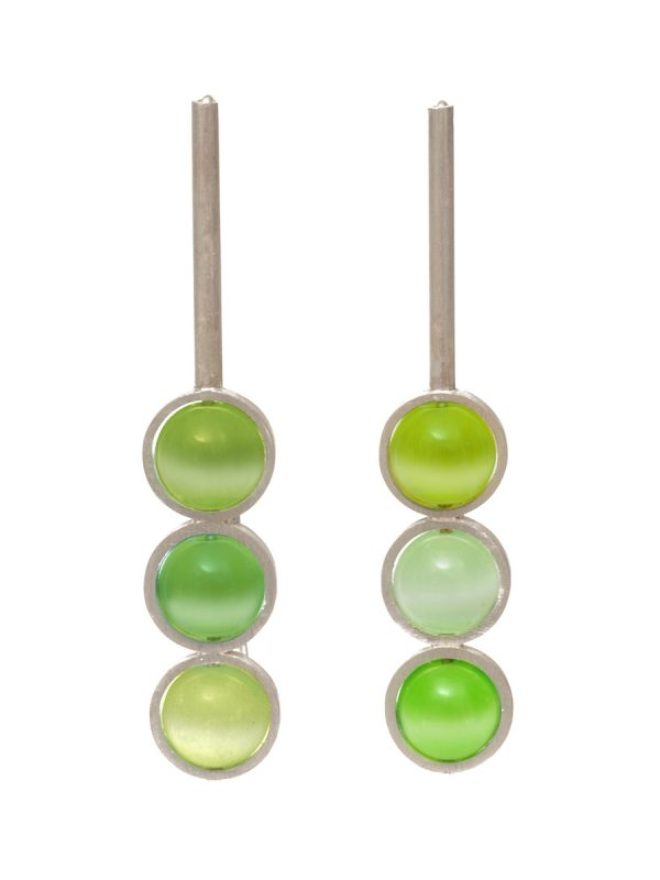Chromatic Sphere Earrings – Green