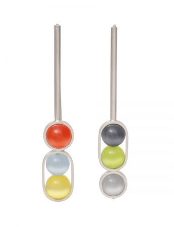 Chromatic Sphere Earrings - Multicolour