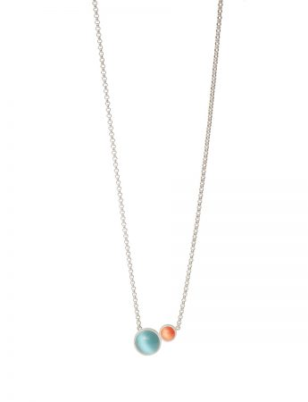 Chromatic Sphere Necklace - Blue and Orange