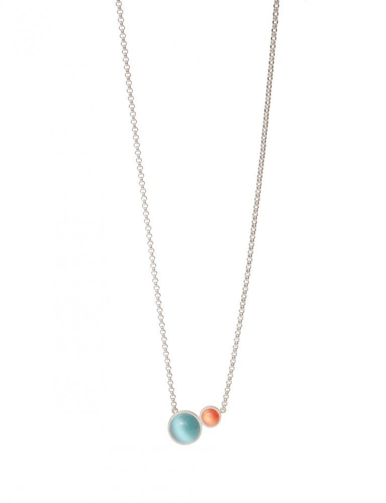 Chromatic Sphere Necklace – Blue and Orange