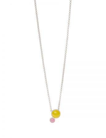 Chromatic Sphere Necklace - Yellow & Pink